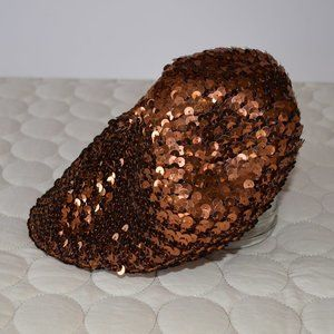 Bebe Copper Sequin Beret